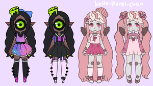 [outfit set] - Idoodlechibis by hello-planet-chan