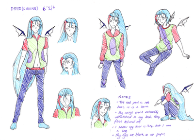 Dippo REF SHEET by Pheon123