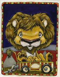 Circus Lion by RobtSny