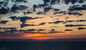 Sunset from Aasgard A- outside the Norwegian coast by jannelisabeth