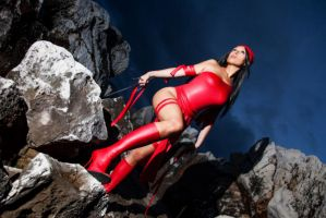 Elektra Natchios on the rocks by Giorgiacosplay