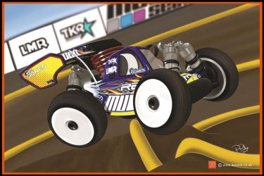 RC Cartoon of Mugen Seiki MBX7r  buggy by PIKEO