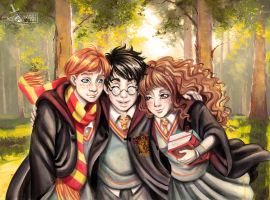 The Golden Trio by Lady-Valesya