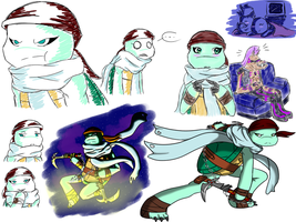 TMNT OC: Kameko sketches by PastellTofu