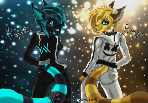 Kisharra and Pumzie (Alan Walker and Marshmello) by SnakeTeeth12