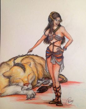 Llana of Gathol and the Banth by SuperSpaceGirlTV