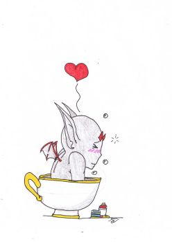 Zarroc in a teacup origional drawing by jashinist112
