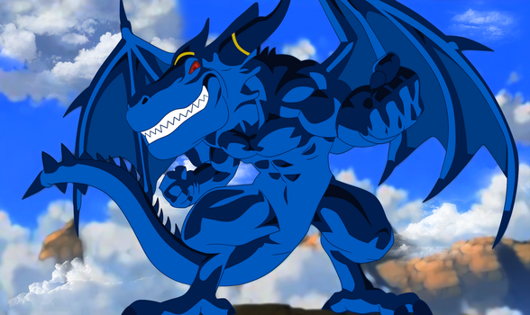 Blue Dragon by nonexistence-eternal