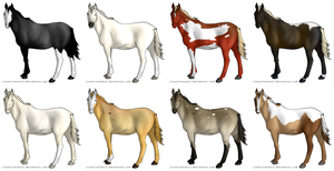 CLOSED Left Horse Adopts by lionsilverwolf