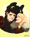 how to train your dragon - trio by shorelle