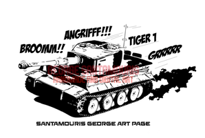 TIGER 1 COMIC ATTACK by SANTAMOURIS1978