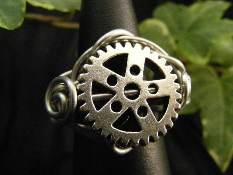 Gear ring by BacktoEarthCreations