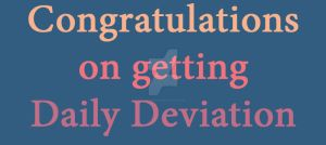 Congratulations on getting Daily Deviation 2 by Championx91
