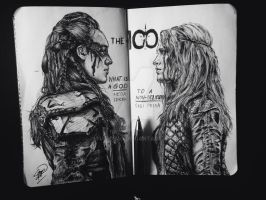 Commander Lexa and Clarke Griffin by tututmo