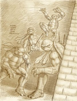 IDW Tmnt issue #33 cover by myconius
