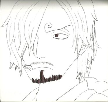 Sanji - One Piece: Pen drawing by mitch13815