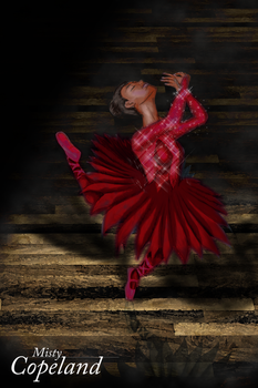 Misty Copeland Fire Red by JessicaRaven