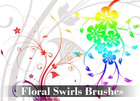 Floral Swirls Brushes by PhotoshopdesaiN