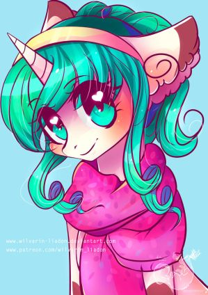 Portrait Commission: Teal [with SpeedPaint] by Wilvarin-Liadon