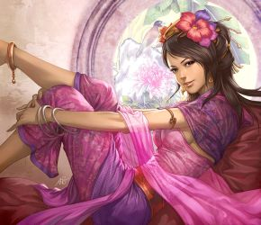 Three Kingdoms-Zhang Chun Hua by Artgerm