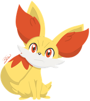 Pokemon - Fennekin by PirateGod3D2Y