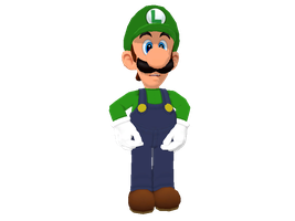 Mario Party 9 Luigi (V2) for MMD (+DL) by Sticklover4