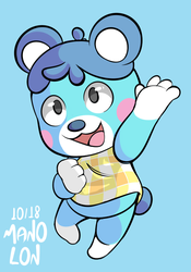 Animal Crossing: Bluebear by Mano-Lon