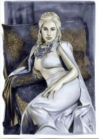 DAENERYS TARGARYEN - GAME OF THRONES by AlexMirandaArt