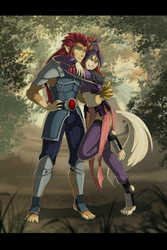 [COMM] Lion-O and Wilykit by VictoriaDAEDRA