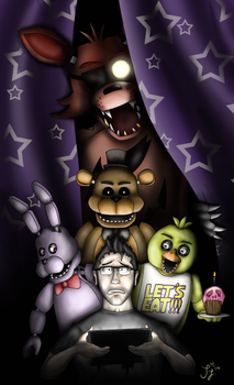 Five Nights at Freddy's - Markiplier by InvaderSaph
