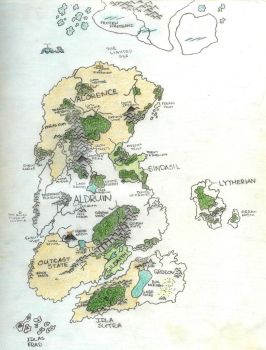 The Four Kingdoms Map by LordKnightXiron
