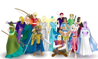 Antian Leaders group shot by Gracethewriterartist