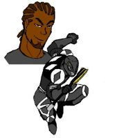 Zach the Ultimate Black Ranger by Virtualist