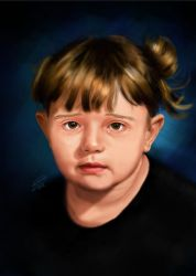 Sad Girl Painting Portrait by KarimStudio