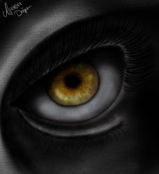 The Awesome Eye of an Unknown Creature by DOGGMAFFIA