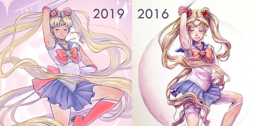Comparison Sailor Moon by TaylorThiesArt