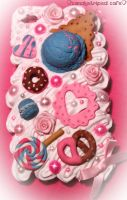 DecoDen Iphone Case by CandyStripedCafe