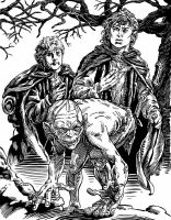 Frodo, Sam and Gollum by mlpeters