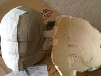 molding the ODST helmet by Recovery-One