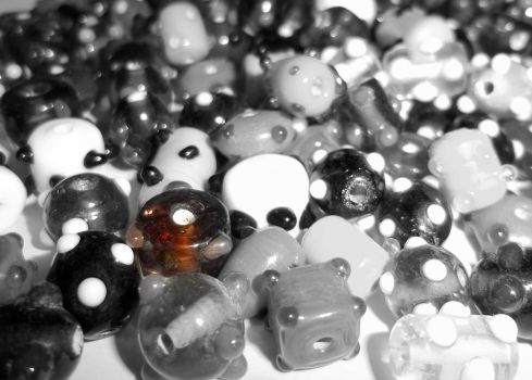 Black and White Beads by Sleeze