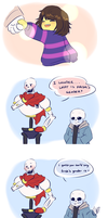 Frisk's gender by chaoticshero