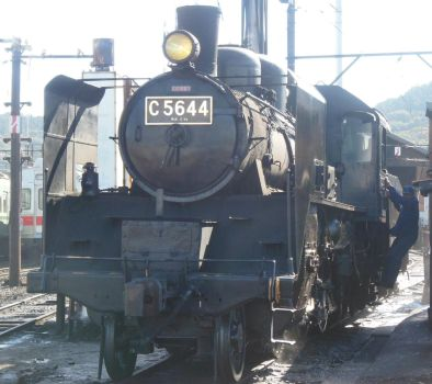 Oigawa C56.44's Driver Boards His Engine by rlkitterman