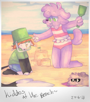 Kiddos At The Beach by T3rriFIED