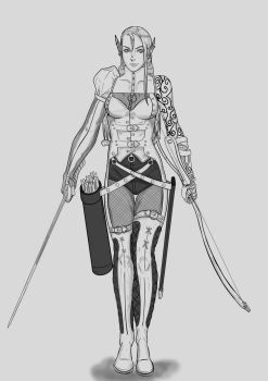 DnD 5ed.character:Neena Krieger by deathone
