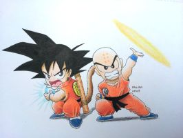 Goku and Krillin by Abz-Art