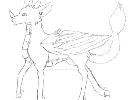 The Bravest  Power Mistical Deer sketch by simbalovepikachu