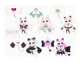 [CLOSED] Adoptable 101 - PURRFUME AUCTION by Puripurr