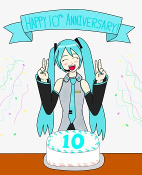 10 years of Miku! by firedragonpunch