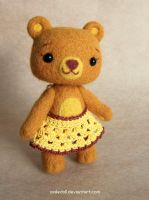 Needle felted Bear by Katy-Doll