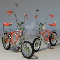 Natalie-Boyle Orange-Krate-Schwinn-Bicycle by mediaartsdallas